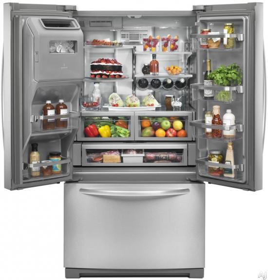KRFF707ESS Congelador Abajo REFRIGERADORES KitchenAid Surtidor al Mayoreo, S.A. de C.V.